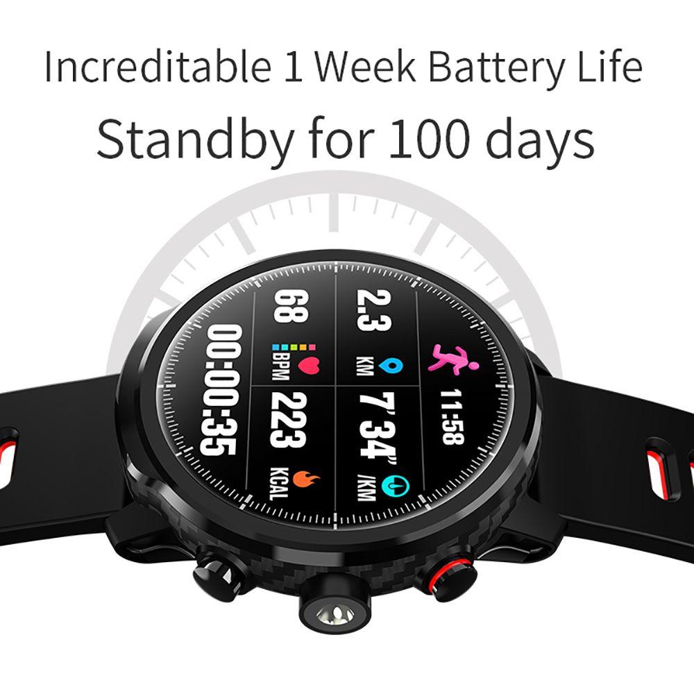 L5 Smart Uhr Männer IP68 Wasserdichte Standby 100 Tage Mehrere Sport Modus Herz Rate Überwachung Wetter Prognose Smartwatch