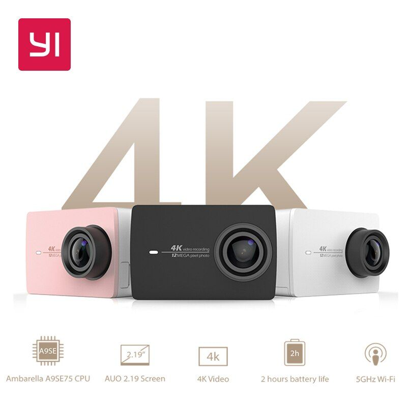 YI 4K Action Camera International Version Ambarella A9SE Cortex-A9 ARM 12MP CMOS 2.19