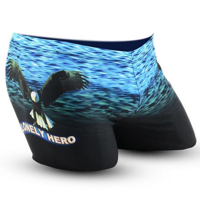 Blue Sea Fliegenden Adler Erwachsene Männer Männlich Badesachen Bademode Schwimmen Pool Hosen Boxer Shorts Slips Badehose Badeanzug Beachwear