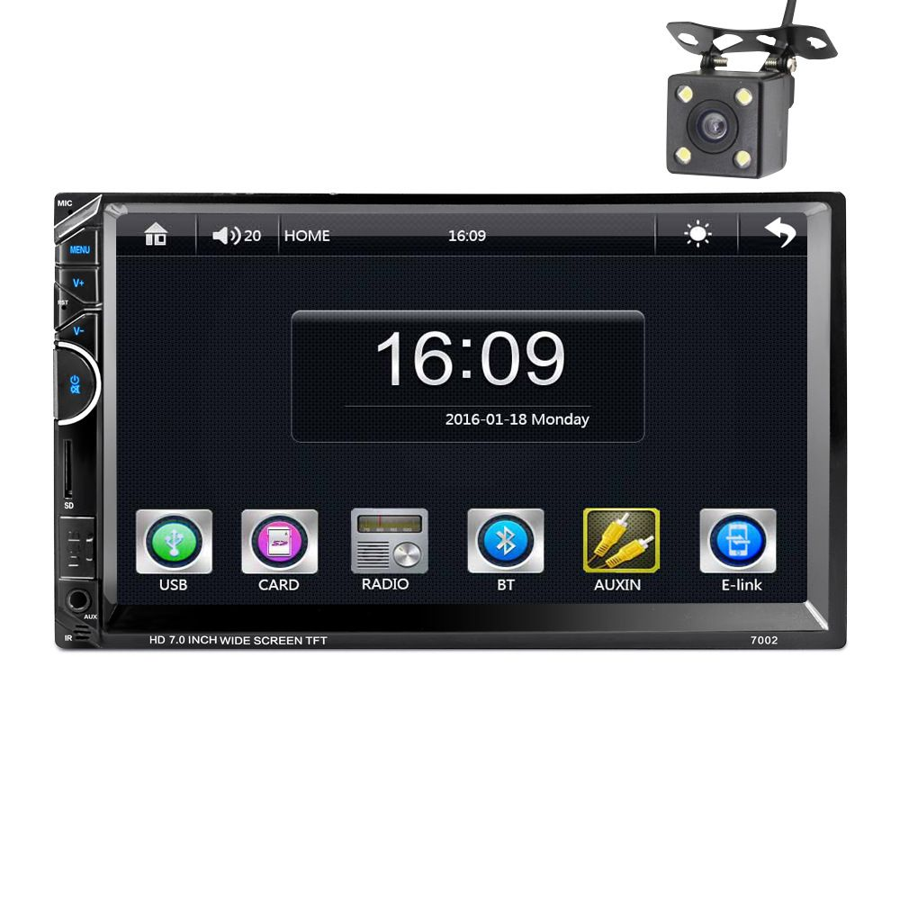 Professional 7 Inch Cars Vehicles Car MP5 Player DVD Video steering-wheel 2 Din With AM+RDS+Mobile Phones Internet+revisingcamer