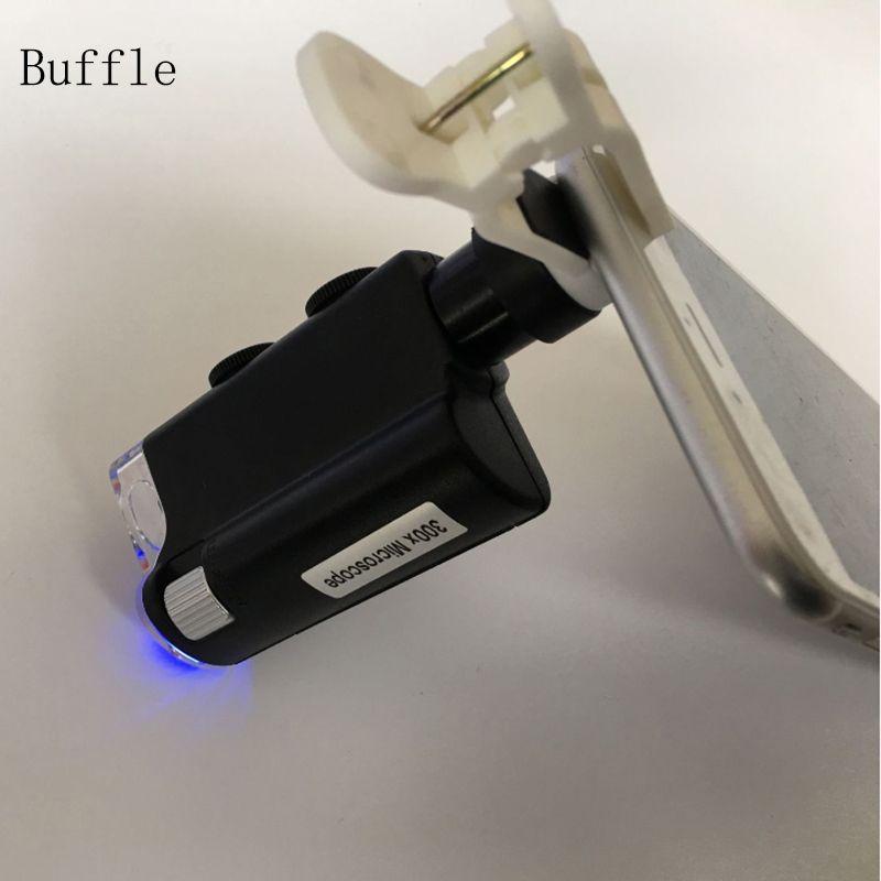 300X Universel Zoom Optique Avec Clip Caméra Télescope Lentille de Microscope pour Samsung Note 5 S6/S7 Pour iPhone 6 7 Plus Téléphone Portable