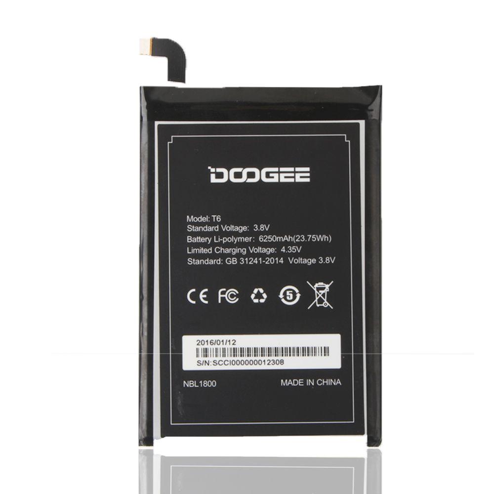 DOOGEE T6 Batterie 6250 mAh 100% Original Neue Ersatz zubehör akkumulatoren Für DOOGEE T6 Smartphone