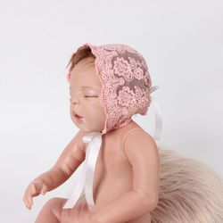 Lucu Indah Bayi Balita Bayi Bayi Perempuan Laki-laki Lace Hat Foto Kostum Fotografi Prop Topi Beanie