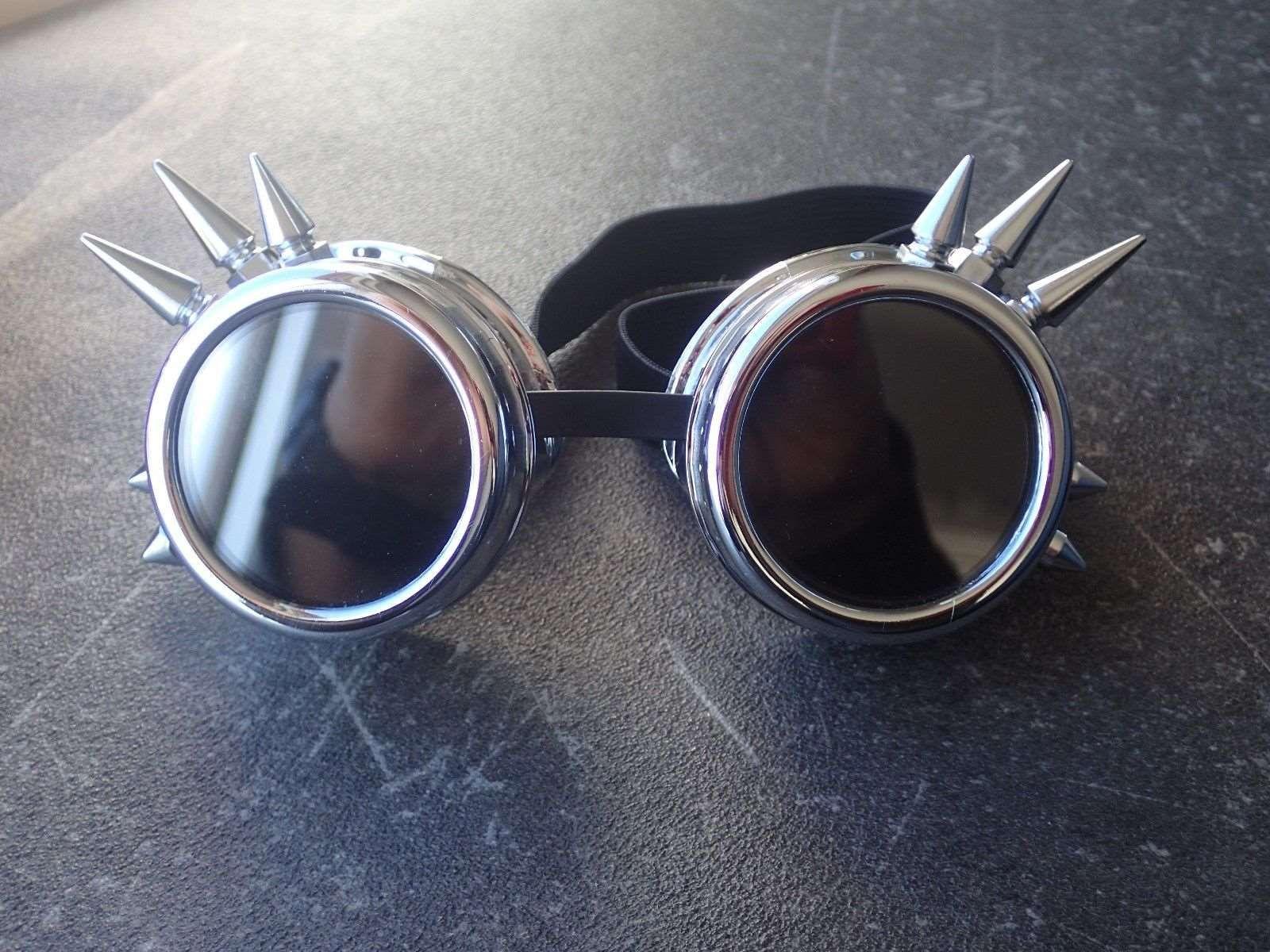 Safurance Mode Silber Steampunk Schutzbrillen Spikey Brennen Mann Kostüm Cosplay Gothic Punk Schutzbrille