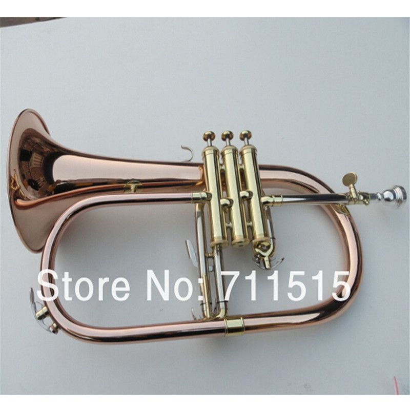 Fabrik Goldlack Professionelle BB Trompeta Große Phosphor Kupfer Flugelhorn Alto Trompete von Monel Ventile Trumpete FH-200