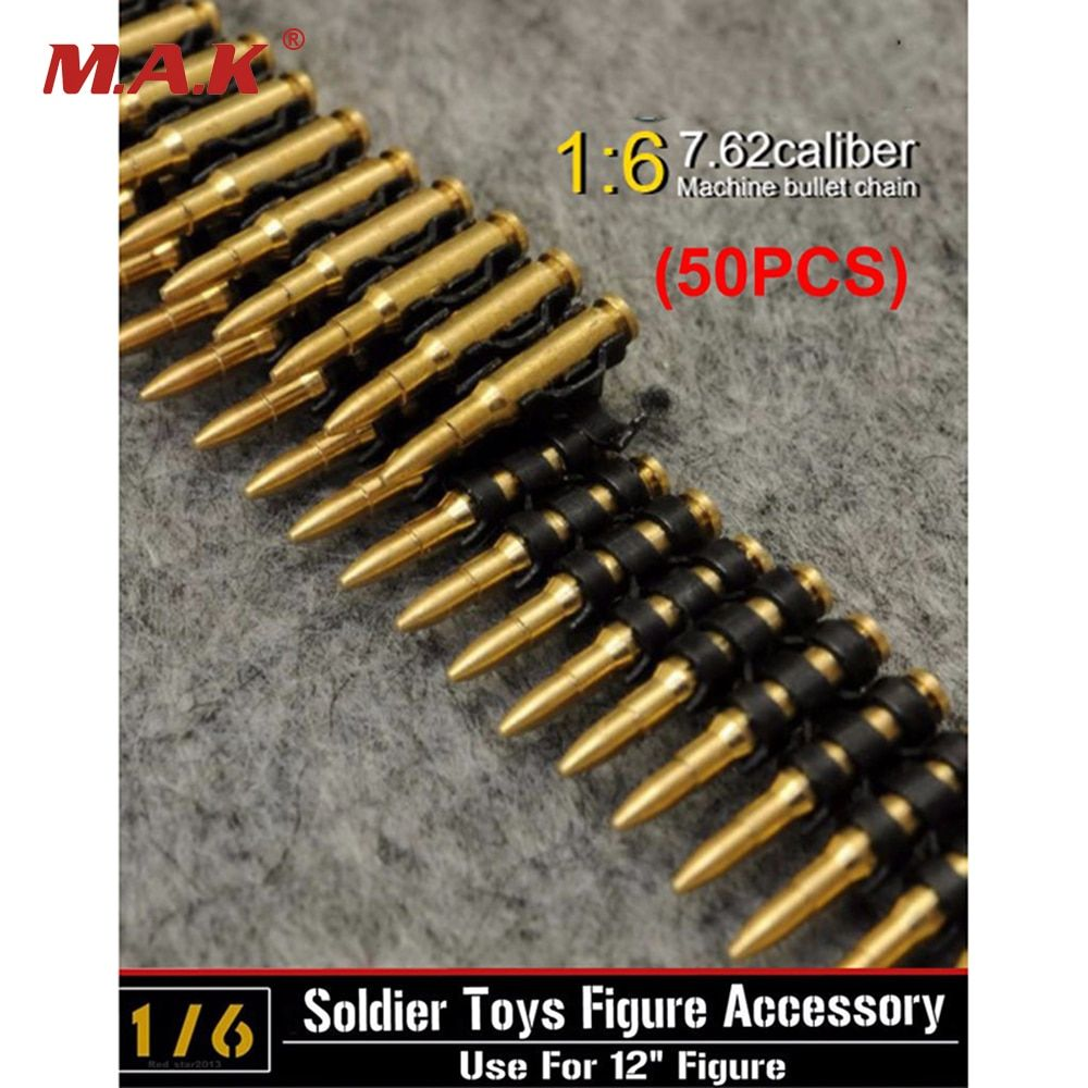 1/6 skala 7,62 kaliber 50 PC metall maschine kugel kette Spielzeug Für 12