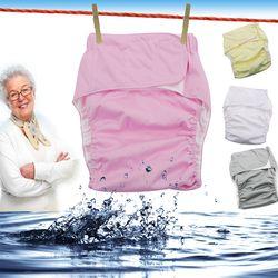 3 stücke Wiederverwendbare windeln für erwachsene für die ältere und behinderte, einstellbare TPU jacke Wasserdicht inkontinenz hosen unterwäsche D20