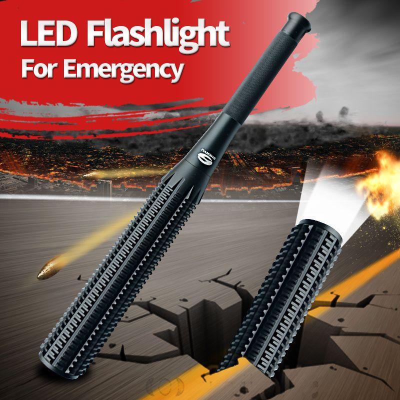 SHENYU Baseball Bat Mace Shaped LED Flashlight for Security and <font><b>Self</b></font> Defense Ultra Bright Baton Torch Ass-Kicker