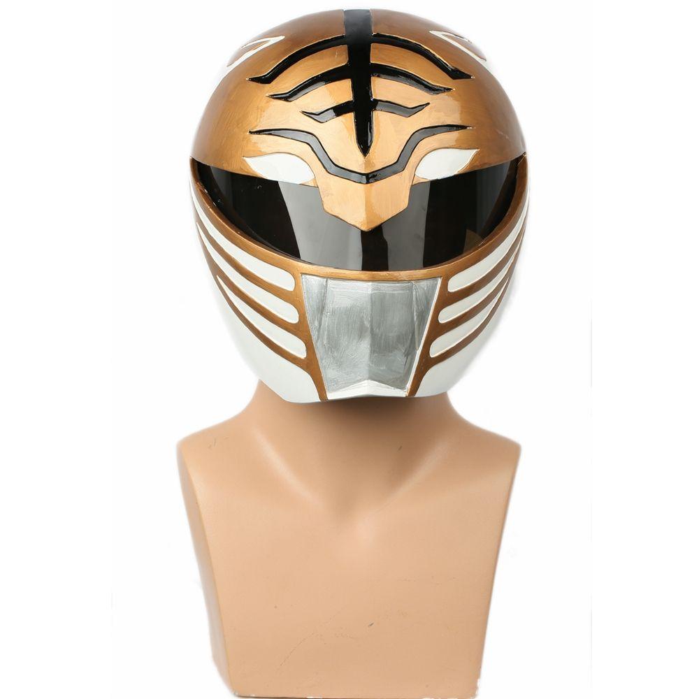 XCOSER Weiß Ranger Vollen Kopf Helm Halloween Maske Cosplay Props Kostüm Zubehör für Power Rangers