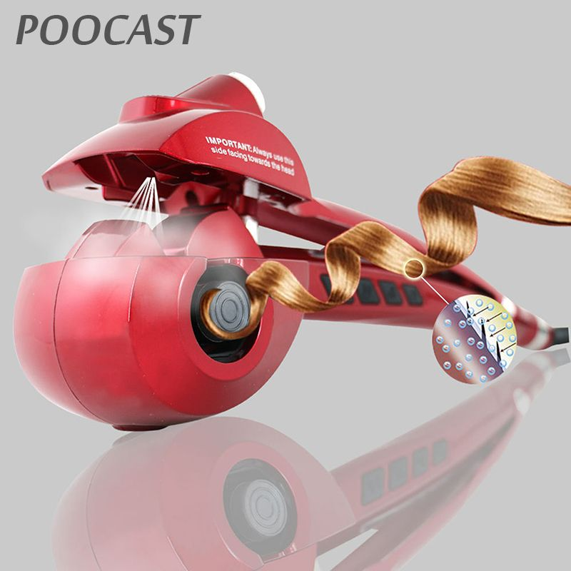 Free shipping Automatic Hair Curler Steam Spray Hair Care Styling Tools Ceramic Wave Fast Magic Curling Iron Hair Styler