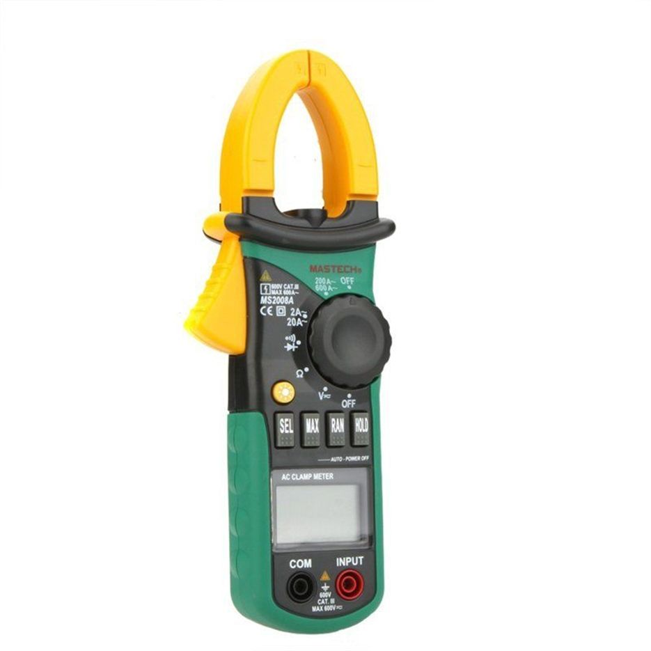 Selling MASTECH MS2008A Digital Clamp Meters Auto Range Clamp Meter Ammeter Voltmeter Ohmmeter w/ LCD Backlight Current Voltage