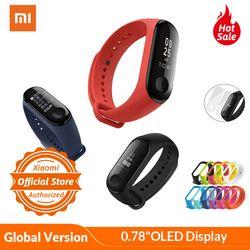 Глобальная версия Xiaomi mi Band 3 mi band 3 умный Браслет 0,78 дюймов OLED экран фитнес-трекер xio mi band 3 монитор сердечного ритма