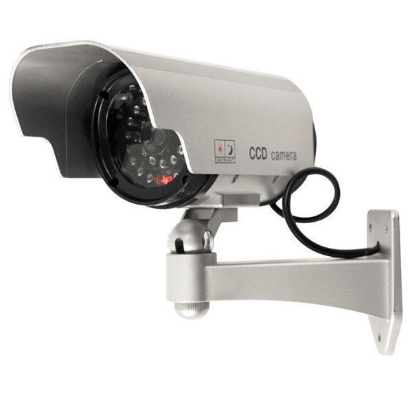 Solarbetriebene Gefälschte Kamera Innen Outoodr Dummy Kugel CCTV Überwachungskamera mit Blinkt IR LED