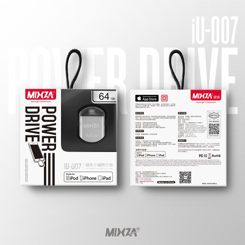MIXZA IU-007 MFI For iPhone OTG USB Flash Drives 128GB <font><b>64GB</b></font> 32GB 16GB For IPhone/Ipod/ipad Air