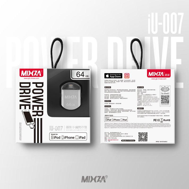MIXZA IU-007 MFI Pour iPhone OTG USB Flash Drives 128 GB 64 GB 32 GB 16 GB Pour IPhone/Ipod/ipad Air