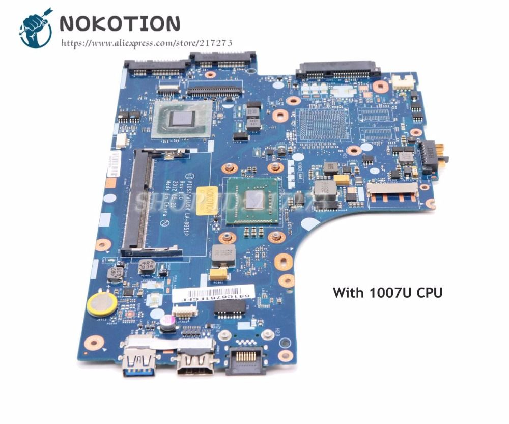 NOKOTION VIUS3 VIUS4 LA-8951P Main Board Für Lenovo Ideapad S300 S400 Laptop Motherboard SLJ8C SR109 Celeron 1007U CPU