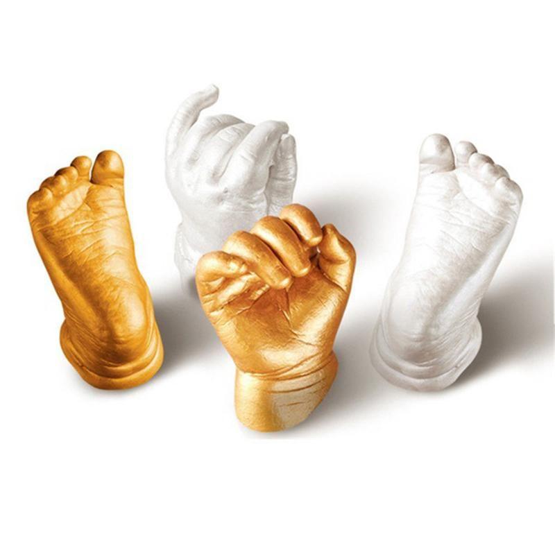 3D Bébé Mains et des Pieds Imprimer Plâtre Coulée Kit Empreinte empreinte de la main Souvenir Cadeau Bébé Main Et Pied Record Établi