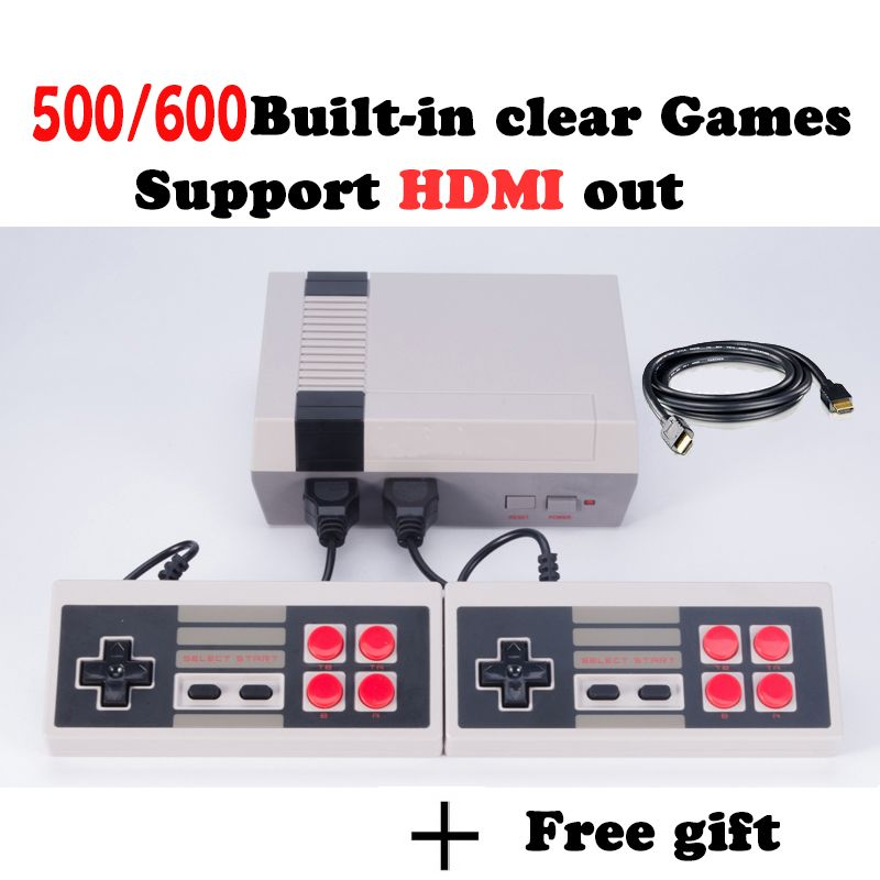 HD HDMI Game Console Retro Mini Handheld Video Game Console Family TV Game Player With Built-in 500/600 Games hd mini console