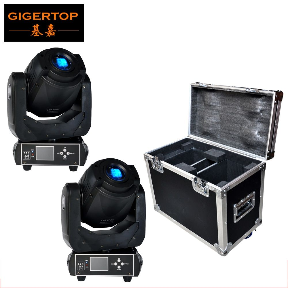 Flight 2in1 Für 2 XLOT 90 watt Gobo LED Moving Head Licht 3 Gesicht Prisma Mit LCD Display DMX Controller 6/16 kanal Hohe Qualität