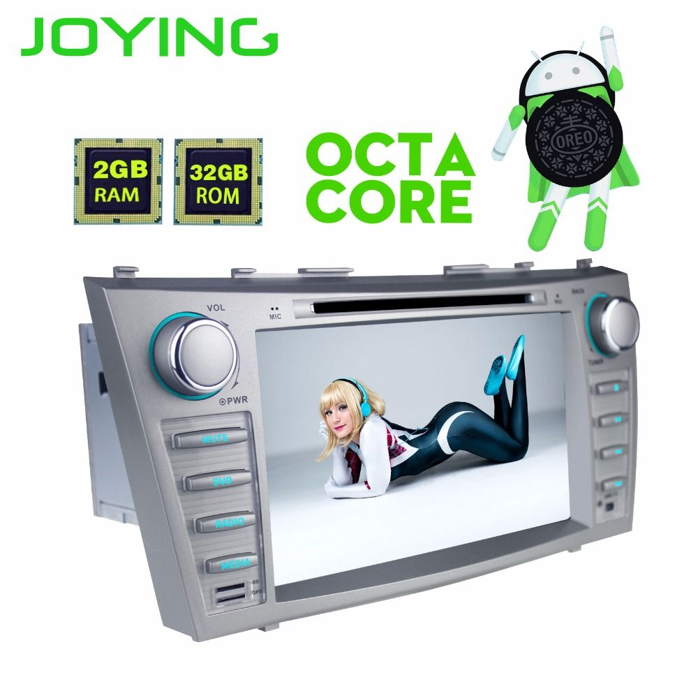 JOYING 2 DIN 8 zoll Android 8 Octa core auto autoradio stereo DVD player für Toyota Camry 2007-2011 GPS band Recorder für Aurion