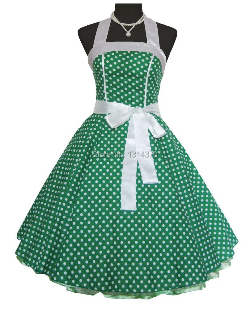 Femmes D'été 50 s 60 s Swing Vintage Rétro Rockabilly Robe Pin-Up robe de Bal Pois Parti De Bal Robes de Coton robes mujer