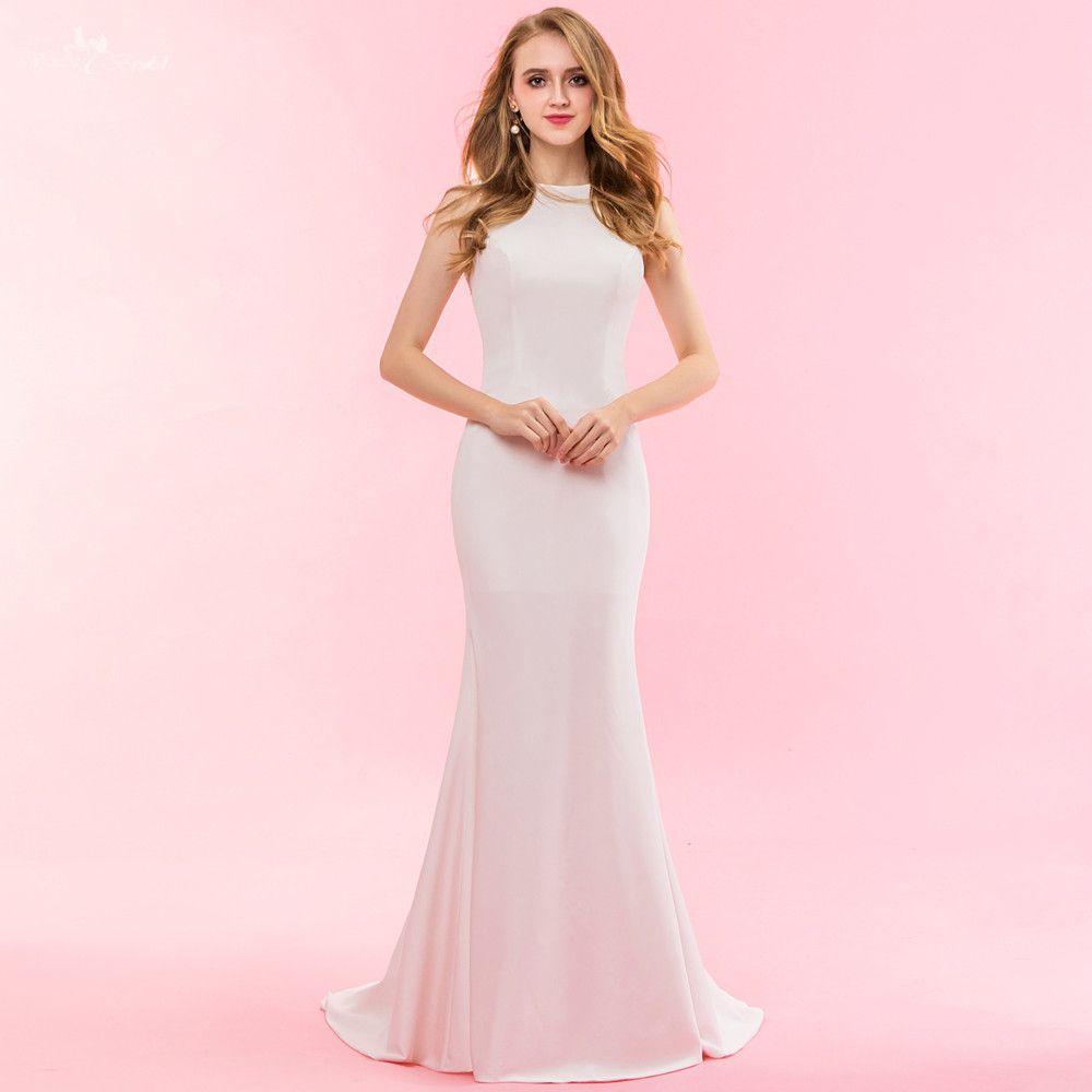 Rsw1326 real fotos yiaibridal vestido Noiva simples sirena sexy backless Vestidos de novia