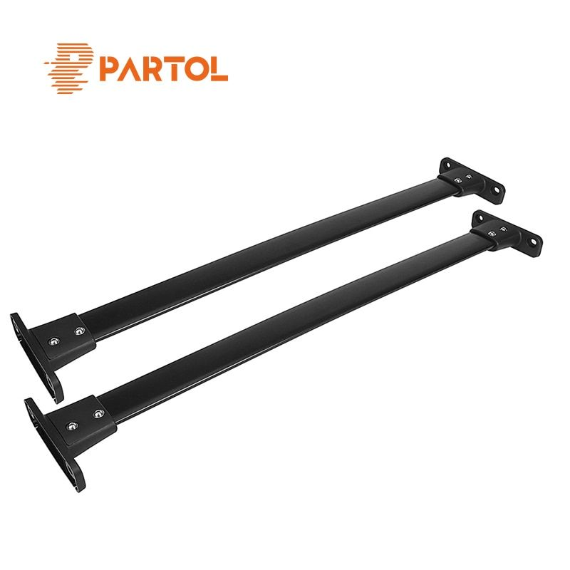 Partol 2Pcs/Set Aluminum Car Roof Racks Cross Bars Crossbars Kit 68kg Bike Luggage Carrier Top for Nissan Pathfinder 2005-2012