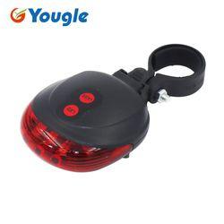 Красный велотренажёр безопасности предупреждение задняя велосипедная фара велосипедный лазер габаритный задний фонарь для мотоцикла ...