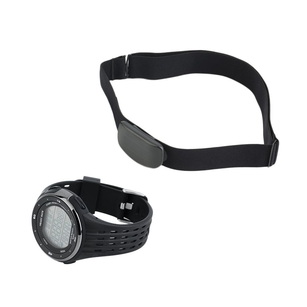 Newest Outdoor Sports Watches Wireless Chest Strap Heart Rate Watches Heart Rate Monitor Watch + Chest Belt Set