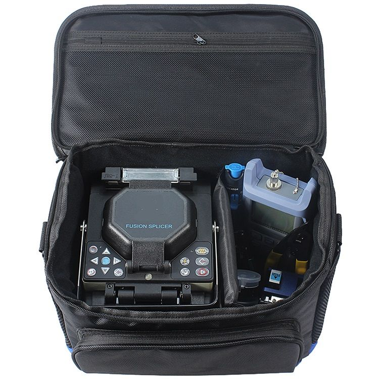 Top Quality Fiber Optical Fusion Splicer Convenient Carrying Bag FTTH Portable Tools Kit Plus Multipurpose Weatherproof Bag