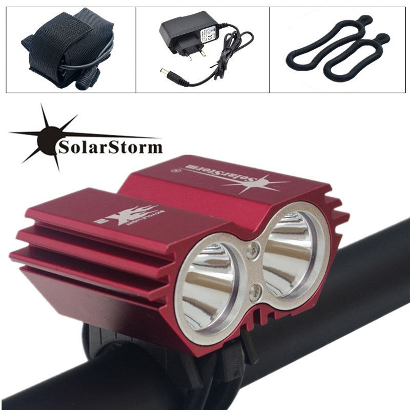 SolarStorm 5000 Lumens XM-L T6 LED Bicycle Light Bike Light Lamp + Battery Pack & Charger Free Shipping