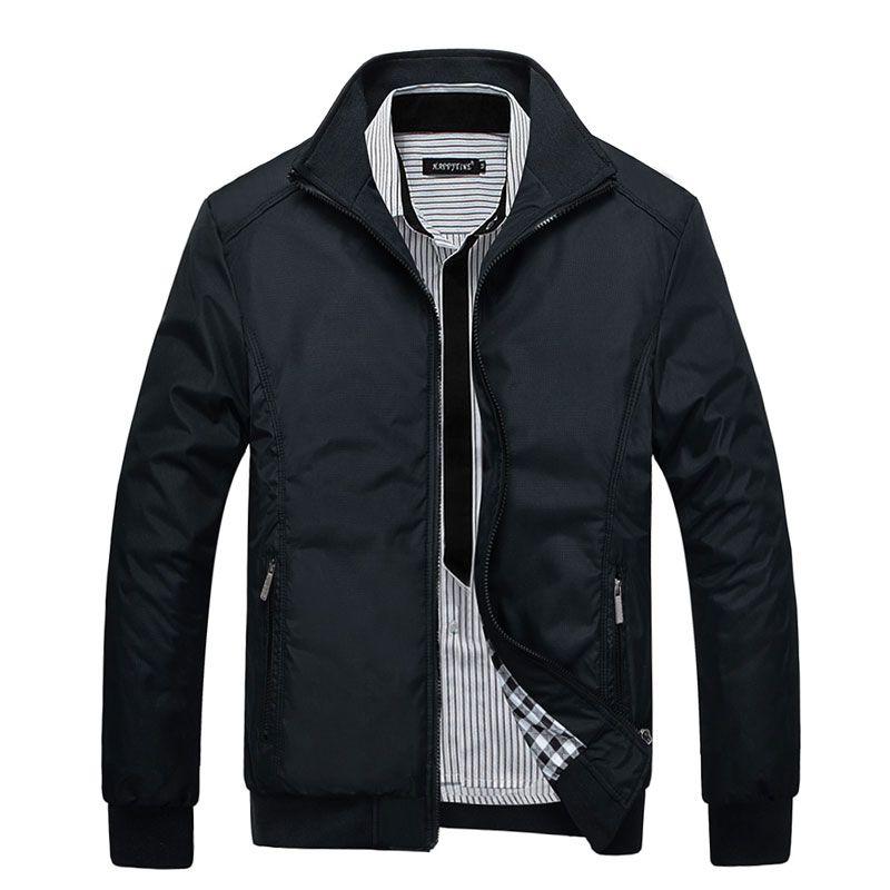 Новинка 2017 года, стильное пальто куртки Для мужчин одежда осенние куртки Костюмы платье высокого качества весенняя куртка Для мужчин ворот...