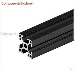Beliebige Schneiden 1000mm 3030 Schwarz Aluminium Extrusion Profil, Schwarz Farbe.