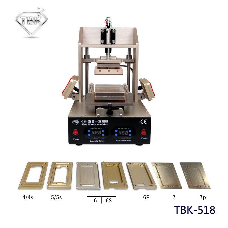 5in1 LCD Refurbish Machine Middle Bezel Separator/Frame Laminating Machine/Vacuum LCD Separator/Glue Remover / Preheater TBK-518