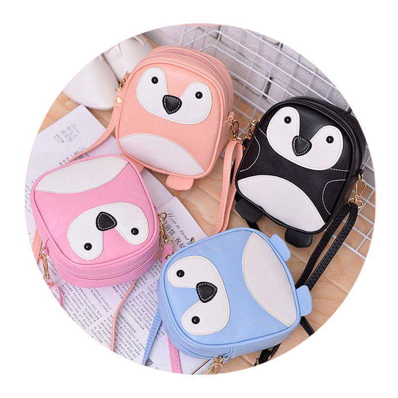 QZH Cartoon Women Cute Shoulder Bags Mini Kids Girls cross body bags Leather Messenger Bags For Kindergarten Baby Schoolbags