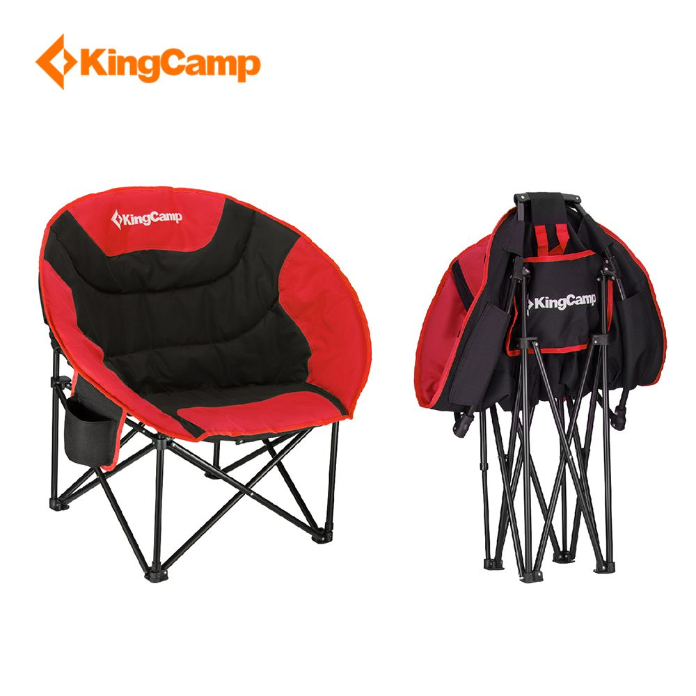 KingCamp Portable Lightweight Folding Chair Stool Fishing with mesh cup holder for Camping Hiking Carry Bag Included Camping