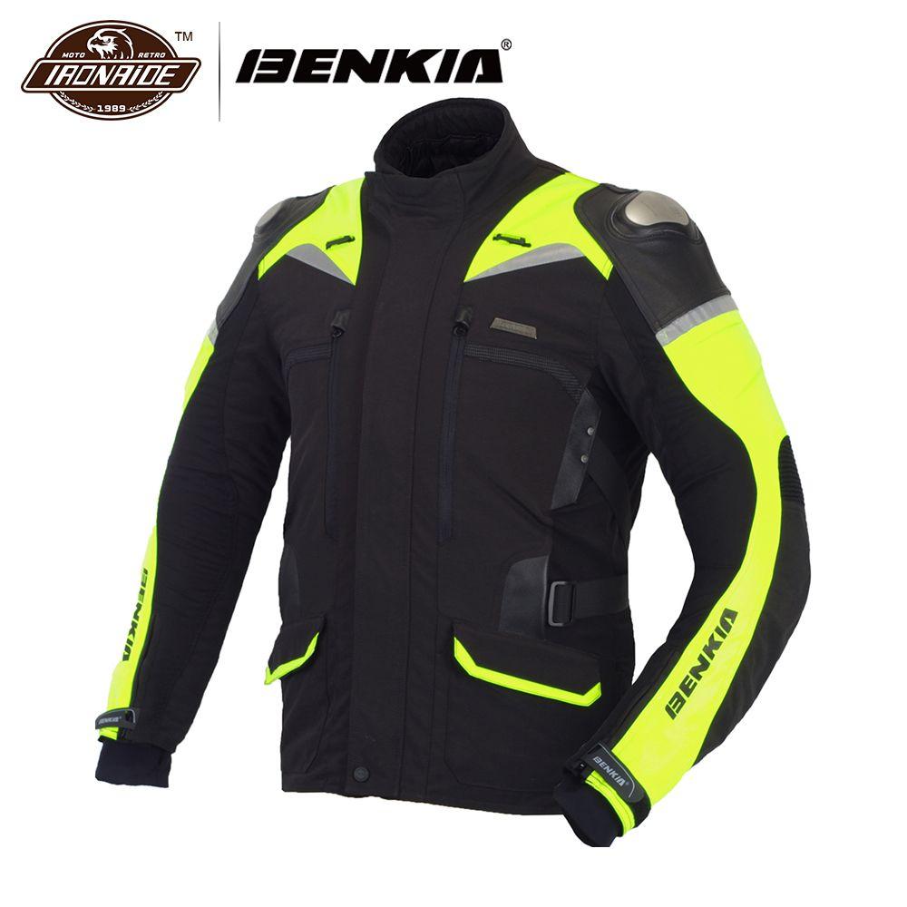 BENKIA moto kreuz moto rcycle Jacke Männer Racing Jacke Winter Reflektierende moto Jacke Schutz Jaqueta moto queiro