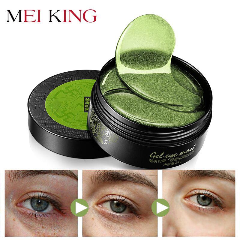 MEIKING masque pour les yeux en gel de collagène dissolvant à l'acide hyaluronique cernes patchs anti-poches Anti-âge yeux hydratants 60pc