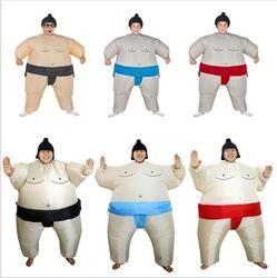 Dewasa Anak Tiup Pakaian Sumo Wrestler Kostum Pakaian untuk Pria Anak Perempuan Pria Gemuk Sumo Airblown Run Cosplay Halloween