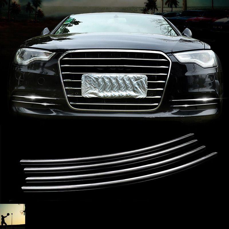 Voiture-style d'avant de chrome D'ABS feux-brouillard arrière couverture garniture Pour Audi A6 C7 2012 2013 2014 2015 2016 style de voiture