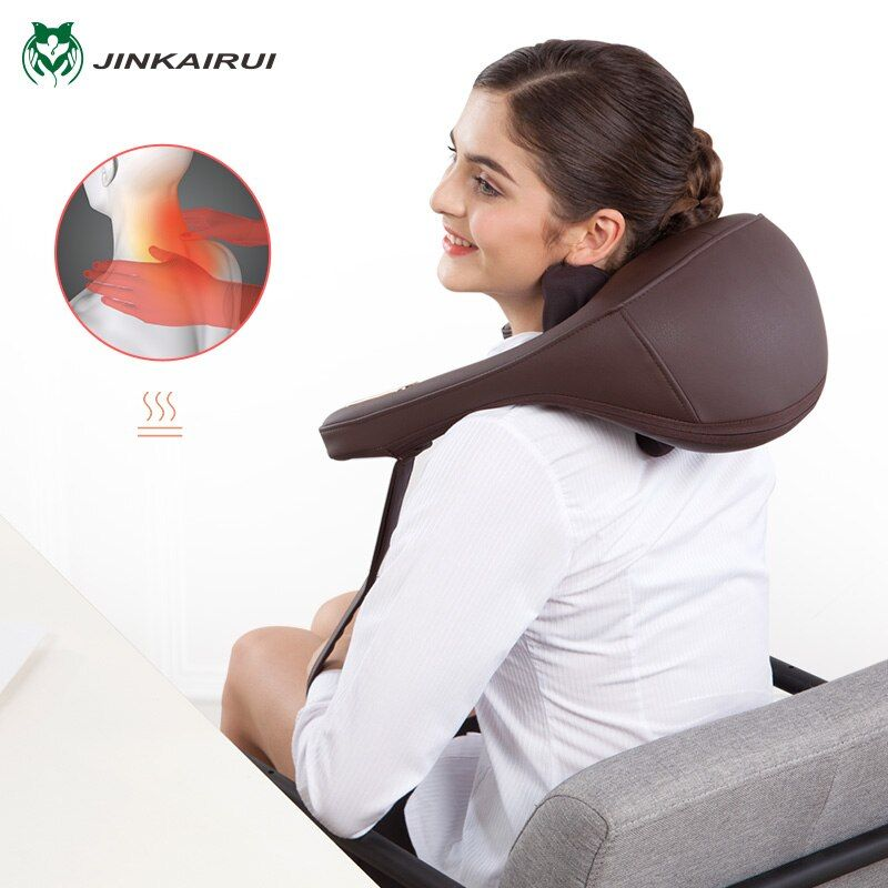 Anti-stress Electric Neck Shoulder Massage Pillows Malaxation Household Clip Cervical Massage Device Massageador Health Tool
