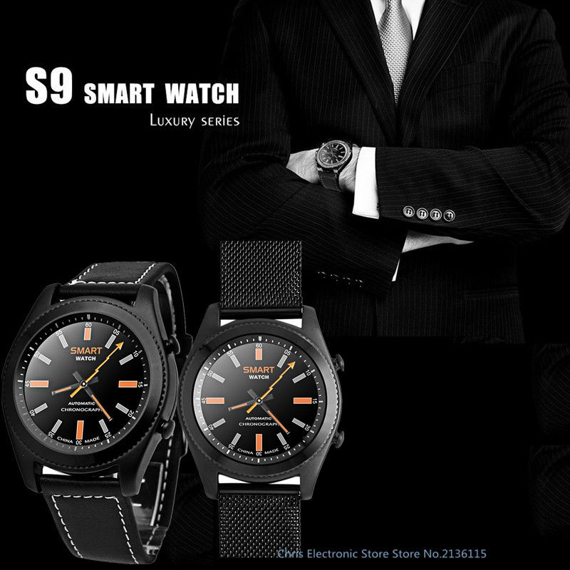 2017 NEW No.1 S9 NFC MTK2502C Smartwatch Heart Rate Monitor Bluetooth 4.0 Smart watch Bracelet Wearable devices for Android