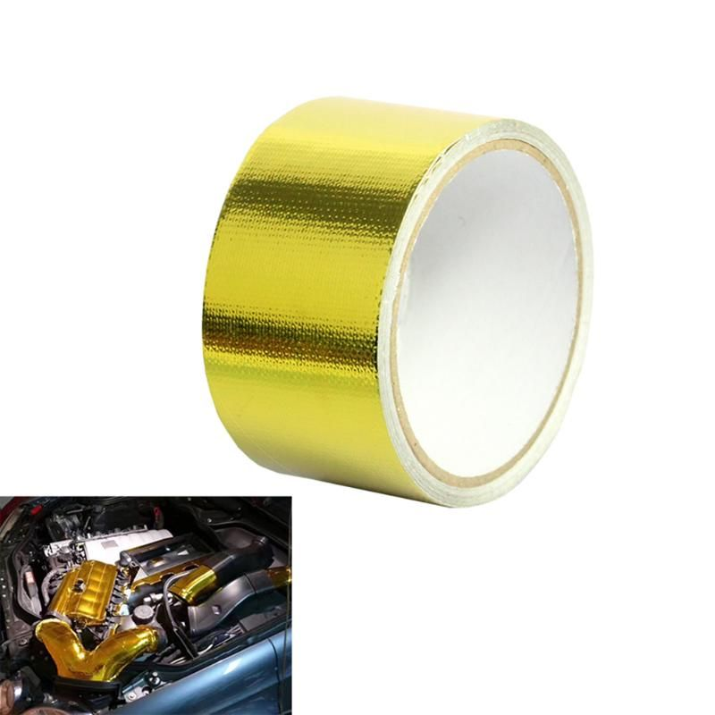 1.97x16' Aluminum Foil Heat Shield Thermo Turbo Wrap Tape For Car Truck Intake Intercooler Reflective Insulation Kit Refit New