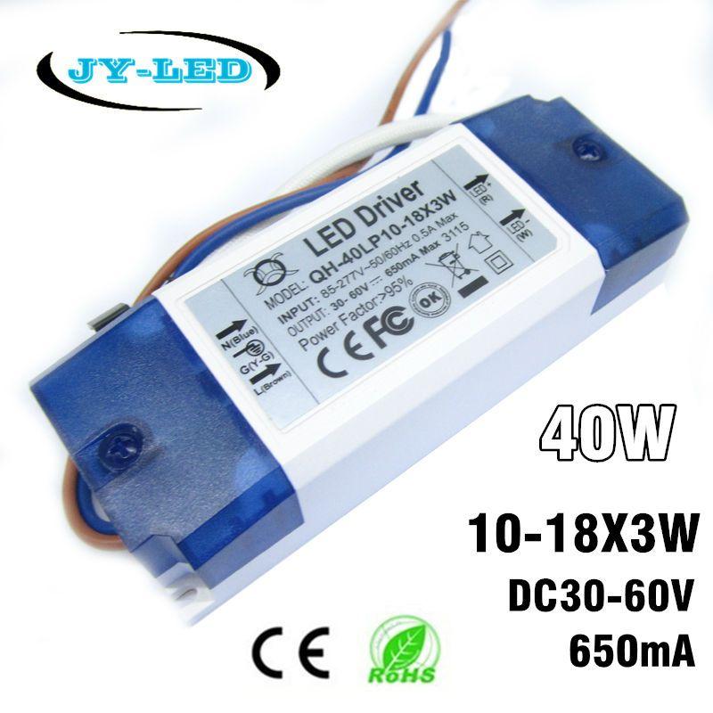 1-2-5-10 pièces 30 w 40 w LED Pilote alimentation 10-18x3W 600mA DC30-60V Constante courant Transformateurs D'éclairage Pour Projecteur