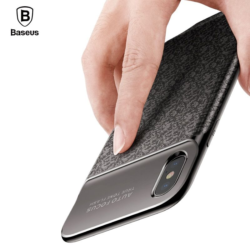 Baseus 3500 mAh Batterie Chargeur Cas Pour l'iphone X Power Bank Cas de Charge Ultra Mince Powerbank Chargeur Cas pour iPhone X