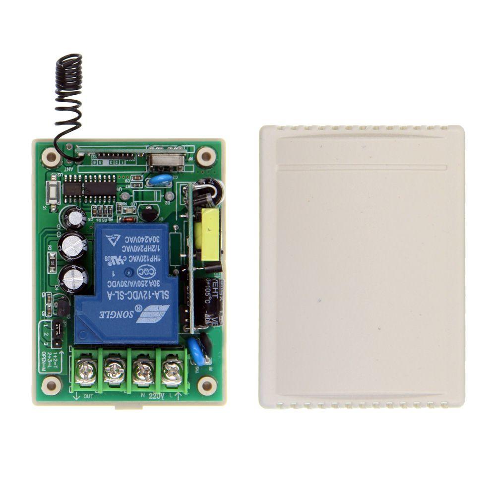 AC 110 V 220 V 230 V 85 V-265 V 30A 1CH 1 CH Relais Empfänger Fernschalter Smart Home LED-Licht Tür, 315/433,92 MHz
