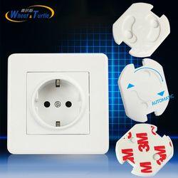 10 unids UE destacan cubierta toma de corriente enchufe eléctrico bebé niño guardia de seguridad prueba de choque eléctrico enchufes protector girar cubierta