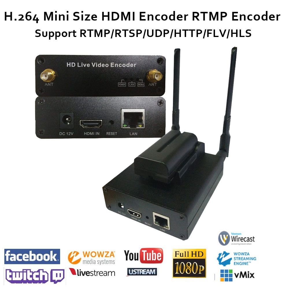 ESZYM H.264 Kamera-top HDMI Encoder unterstützung RTMP/RTSP/UDP/RTP für streaming wie Youtube/ facebook live/Twitch, wowza, Red5, FMS