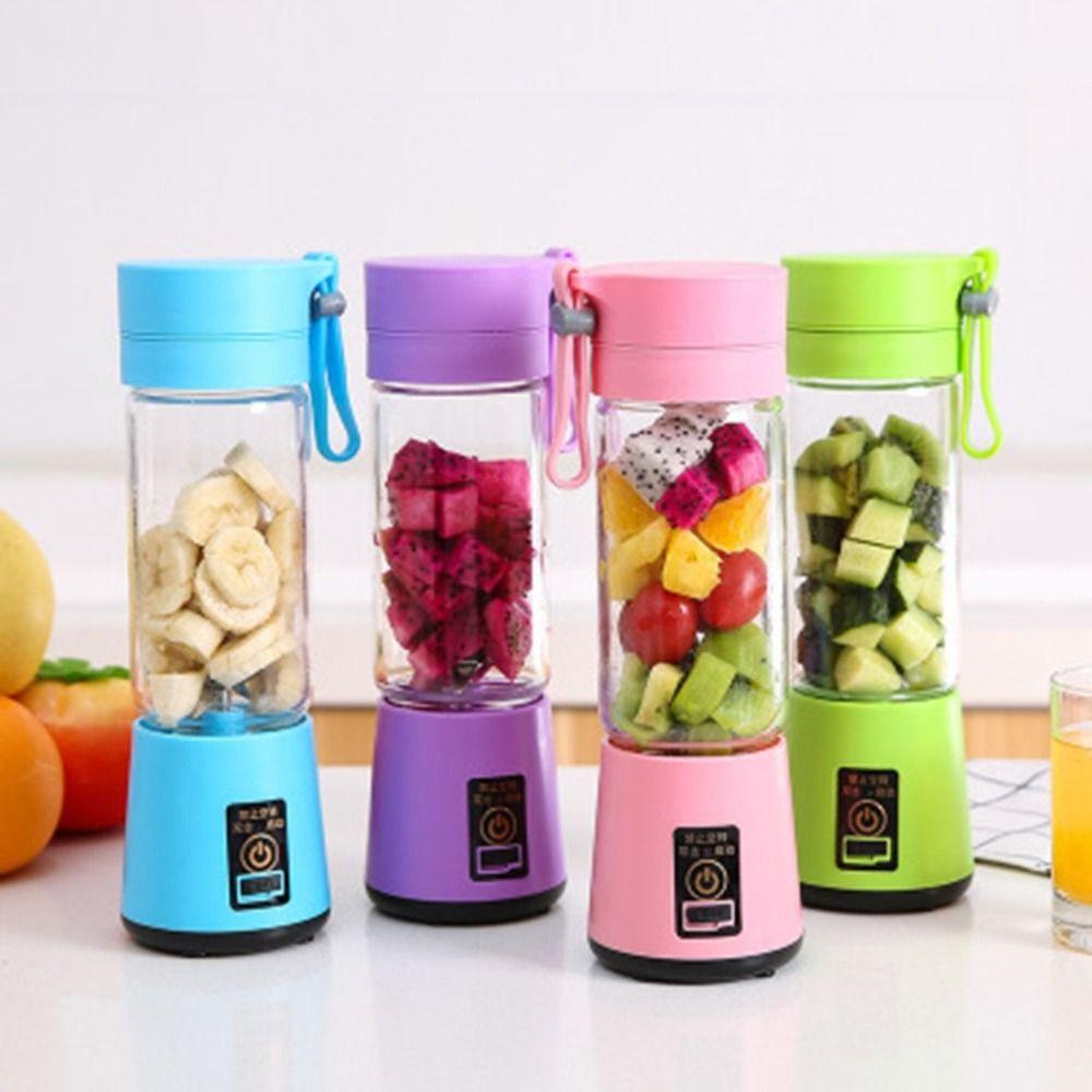 Mini jus Rechargeable portatif de mélangeur de fabricant de jus de légumes tenu dans la main de presse-fruits d'usb faisant la tasse avec le câble de charge
