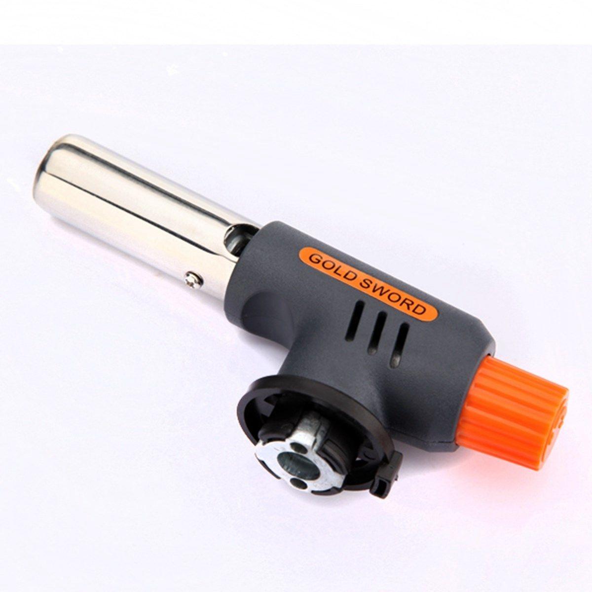 Marke Ausgezeichnete qualität Gas Torch Flammenwerfer Butan-brenner-automatische Zündung Camping Schweiß BBQ Outdoor Reise H1E1